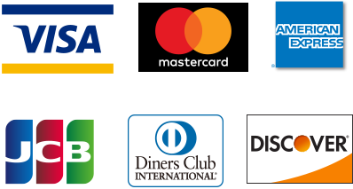 VISA,mastercard,AMERICAN EXPRESS,JCB,Diners Club,DISCOVER